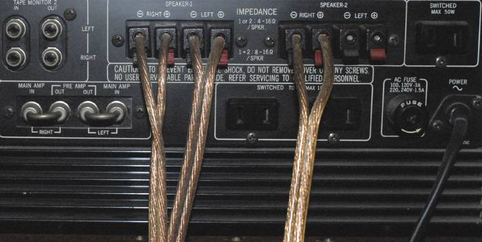 Bi wiring: 1+2 or 4 channels? | Audioholics Home Theater Forums