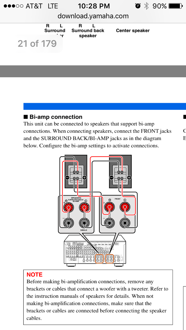 i m confused on if my yamaha schematics and def tech 7001s are my yamaha rx a3000 schematic i m using def tech 7001s for front set a built in sub according to this diagram if i choose to hook it up like it shows is