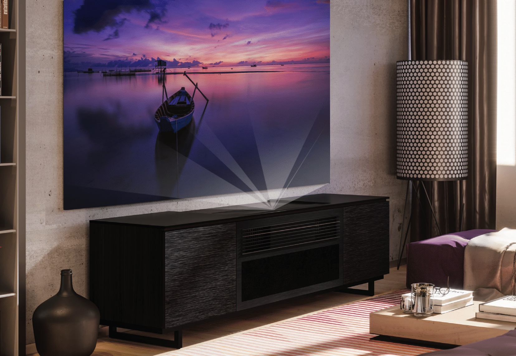 LG HU85L 4K Ultra Short Throw Projector launch demo event at