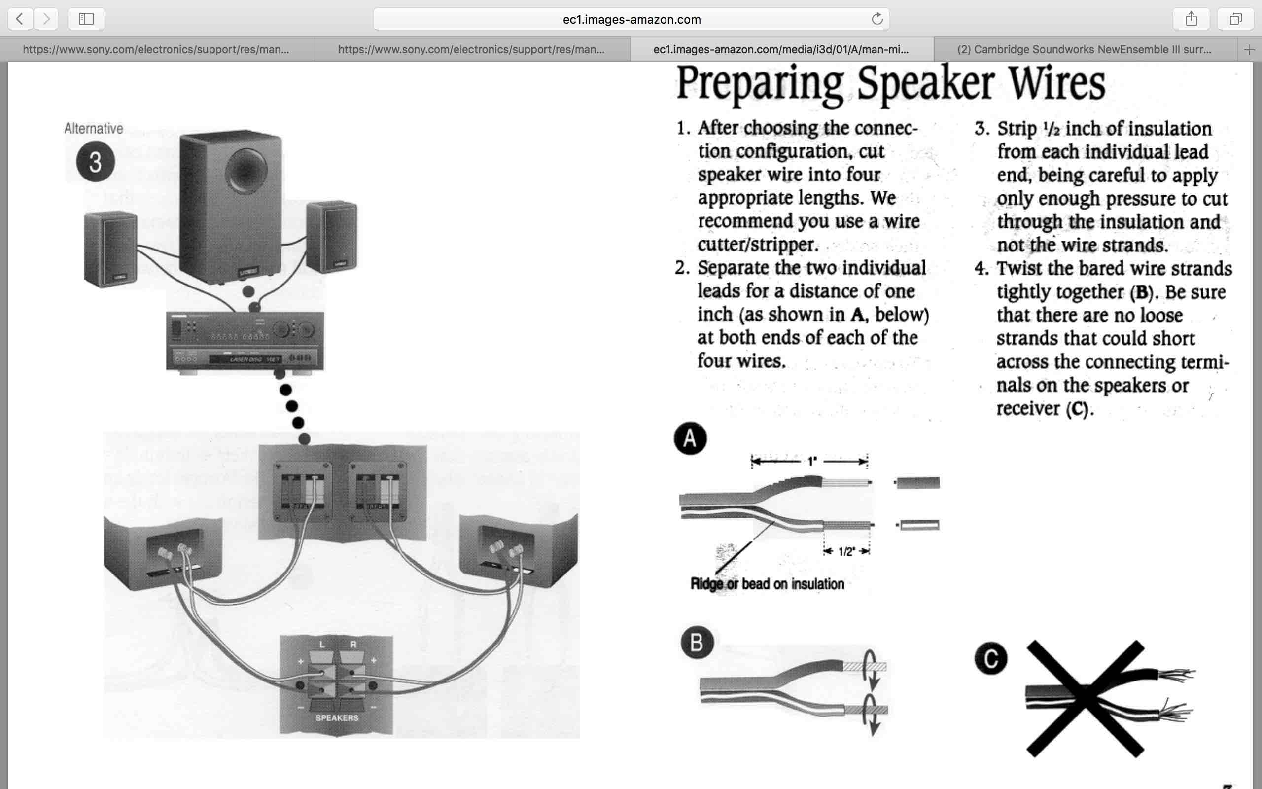 Series Speaker Wiring Along With Wiring Configuration For 2 Speakers