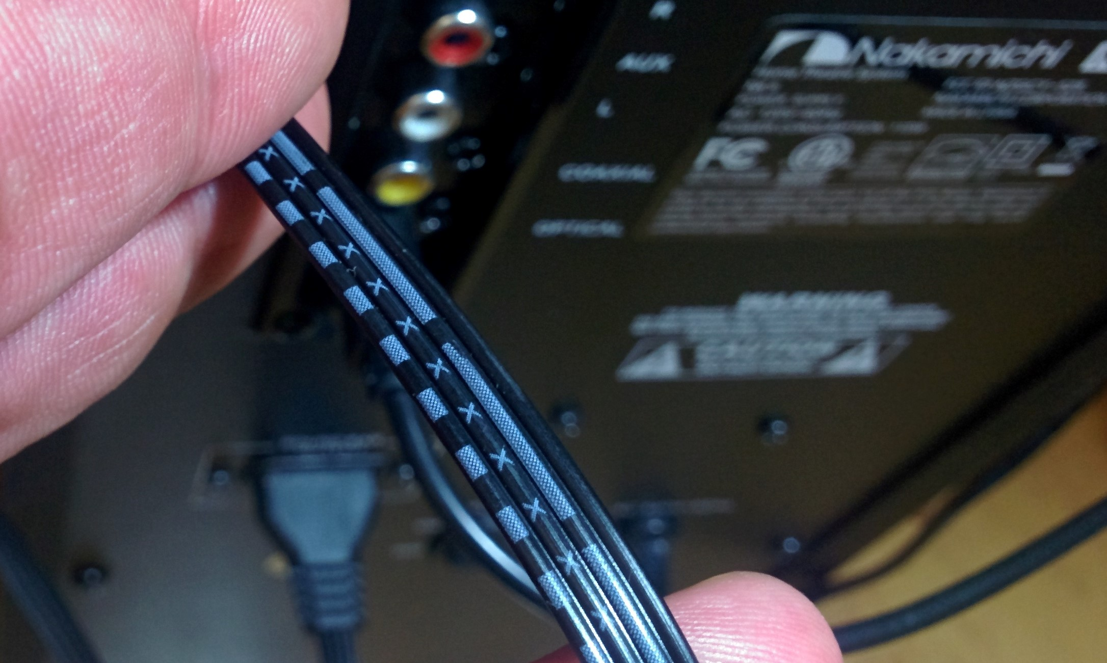 Need Help Decoding Speaker Wires Audioholics Home Theater Forums Cable Wiring I Will Be Using A New Connector From Speakers To Sub Power Box Once Figure Out What The Codes On Are Since Dont See How Teardown